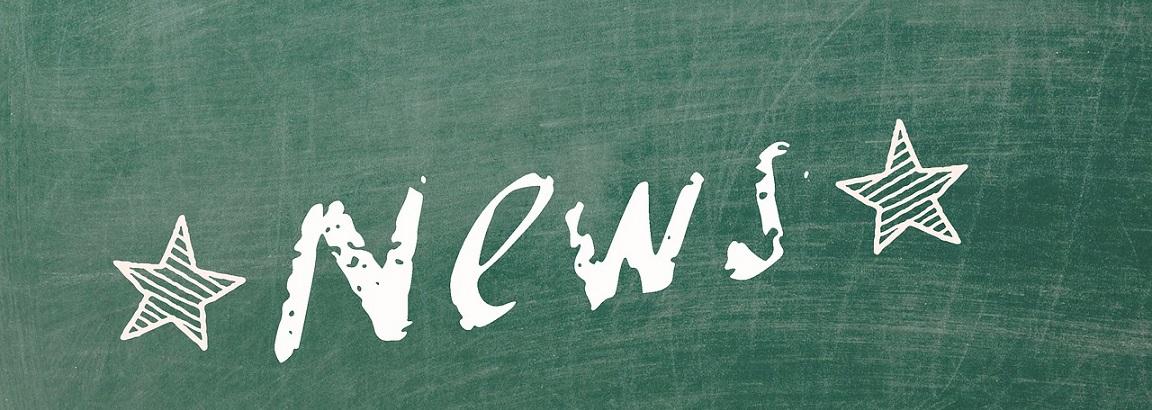 News written on a chalkboard